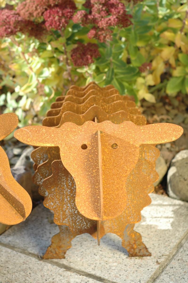 Rusty das edelrost schaf 60cm for Edelrost gartendeko