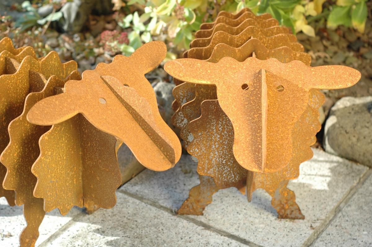 Rusty das edelrost schaf 60cm for Gartendeko eisen