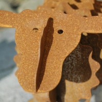Rusty-gartenskulptur