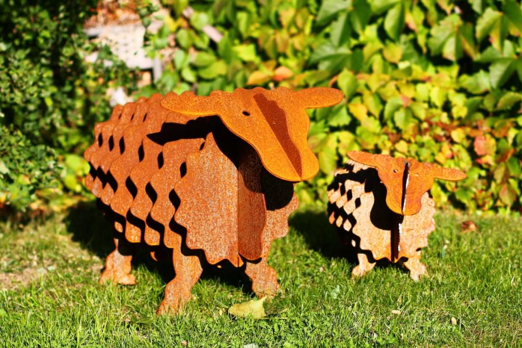 Gartendeko-groß-klein-metall-Gartendeko Schaf