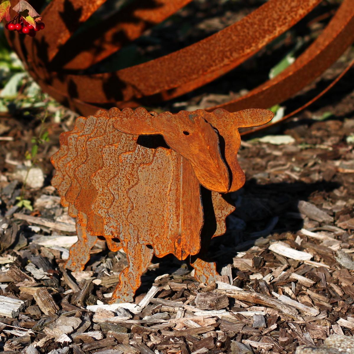 Ruby gartendeko schaf mit 40cm for Garten edelrost